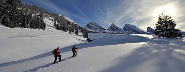 Routen für Schneeschuhläufer