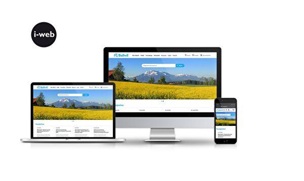 Visualisierung Homepage Gemeinde Ballwil