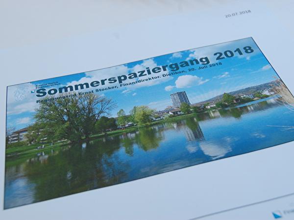 Sommerspaziergang mit Regierungsrat Ernst Stocker