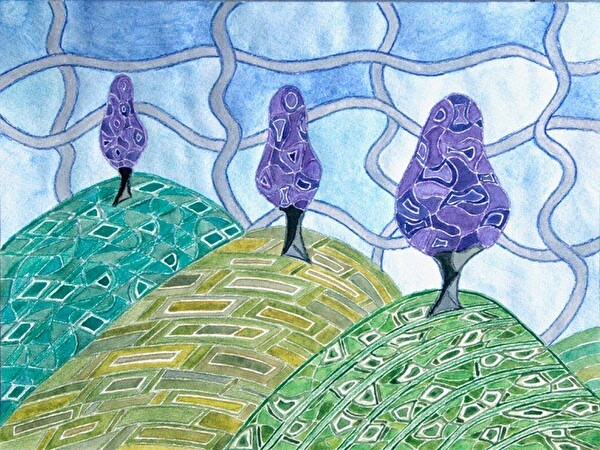 lila Bäume