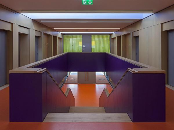 Neubau Schulpavillon Steinmürli_Treppenabgang