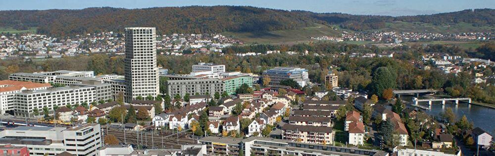 Blick auf die Stadt Dietikon