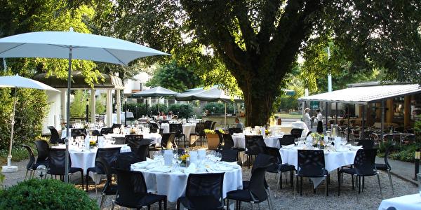 Hotel Schützen Rheinfelden, Gartenterrasse