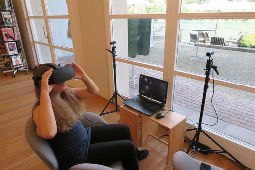 Virtual-Reality-Erlebni in der Biblitohek