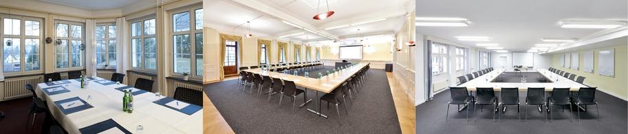 Seminarräume: Konferenzraum Salon Hotel EDEN im Park, Jugendstilsaal Hotel Schützen Rheinfelden, Seminarraum Marktgasse Hotel Schiff am Rhein
