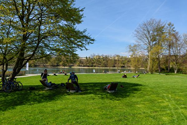 Rheinrouten, Fahrrad, Rheinfelden, Stadtpark Ost