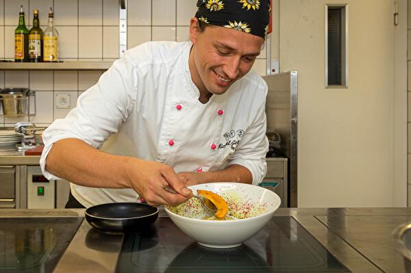 Küchenchef Michael Grässler Hotel Schiff am Rhein Ravioli