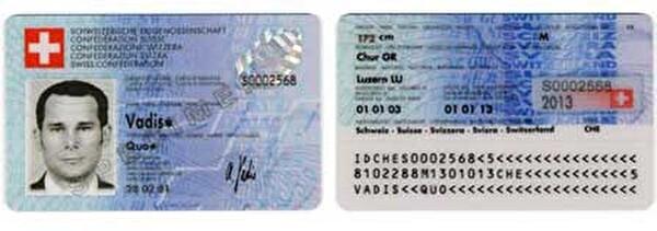 Carte d'identité suisse