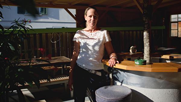 Gastgeberin Karin Brander