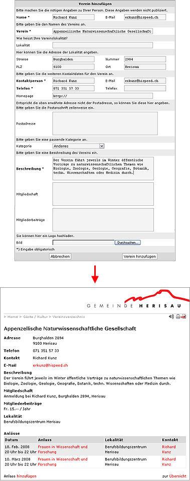 Anleitung Vereinseintrag