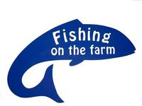 Logo fishing on the farm