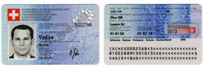 exemple de carte d'identité suisse