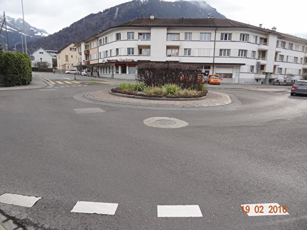 Kreisel Scalettastrasse, vor Baubeginn