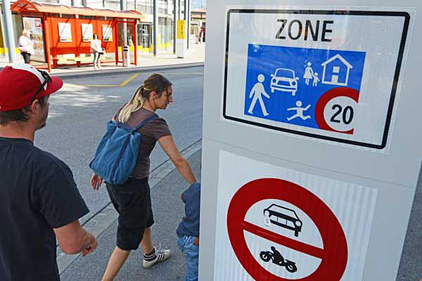 Verkehrsberuhigende Zonen