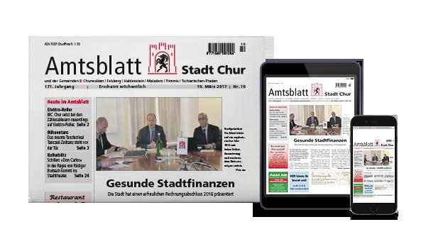 Das Amtsblatt der Stadt Chur erscheint wöchentlich.