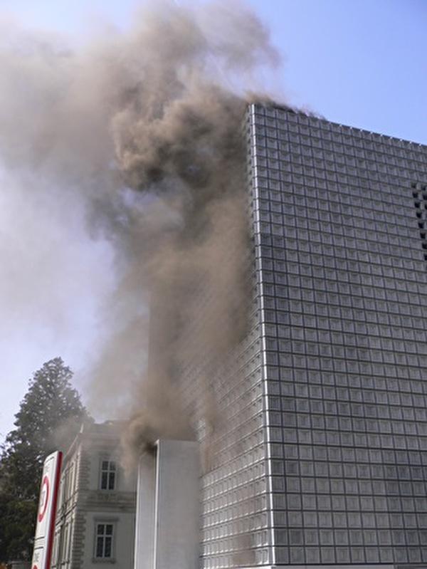 Fassadenbrand Bündner Kunstmuseum