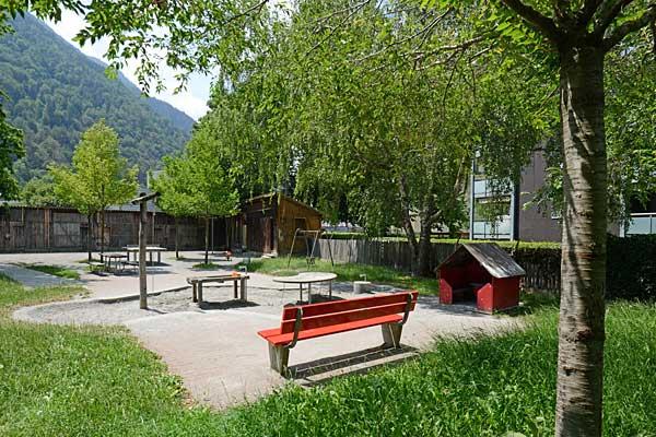 Viel besuchter Spielplatz Altes Stadtspital.