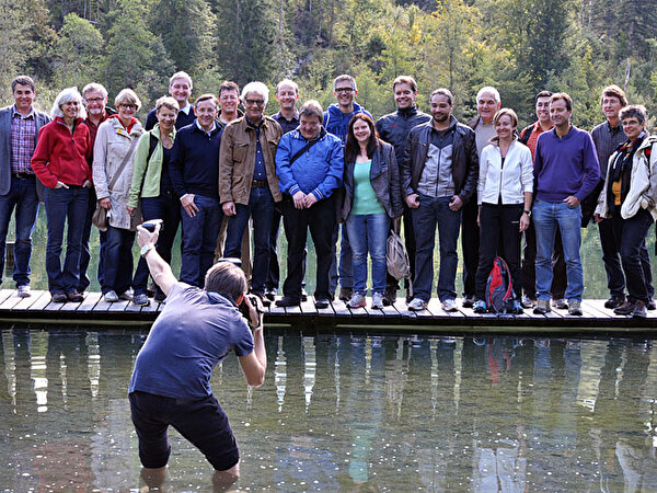 Gruppenbild am Crestasee