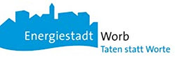 Logo Energiestadt Worb Taten statt Worte