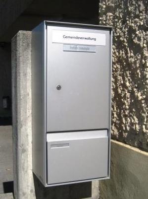 Gemeindebriefkasten für briefliche Stimmabgabe