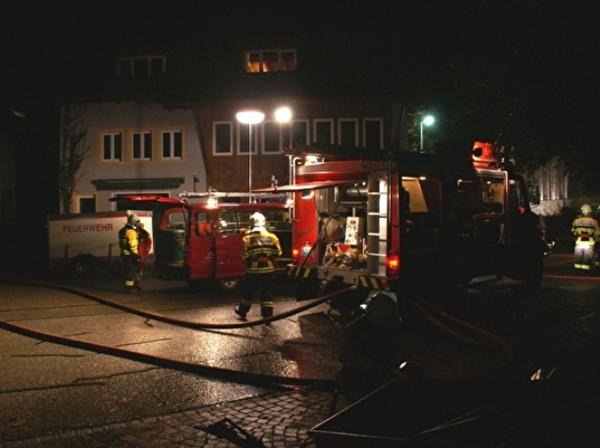 Die Feuerwehr übt den Ernstfall