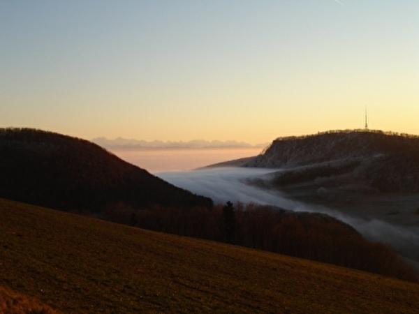 Winterbild mit Wolkenzug
