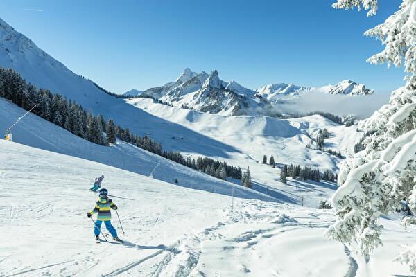 Ski im Schwarzsee