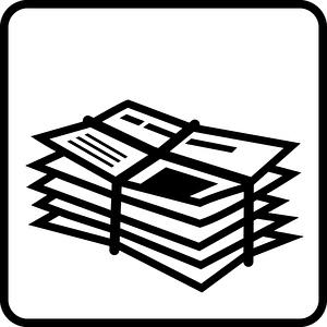 Piktogramm Altpapier