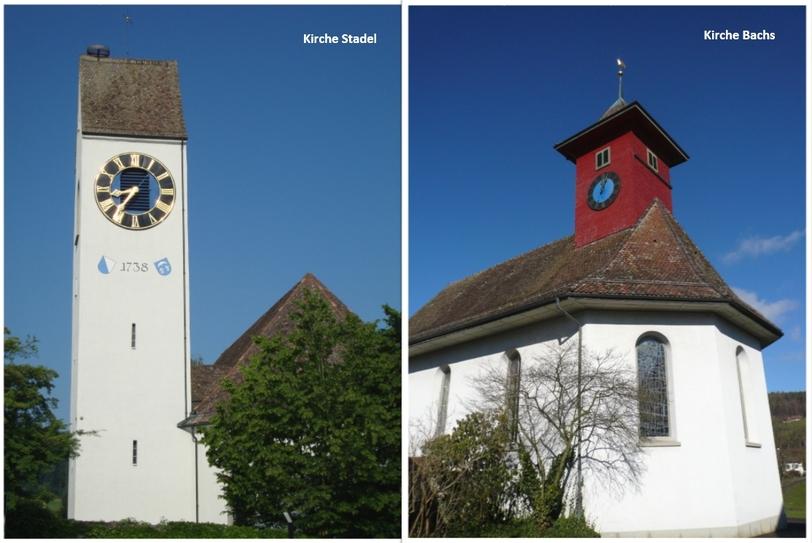Kirchen Stadel und Bachs