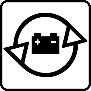 Piktogramm Autobatterien