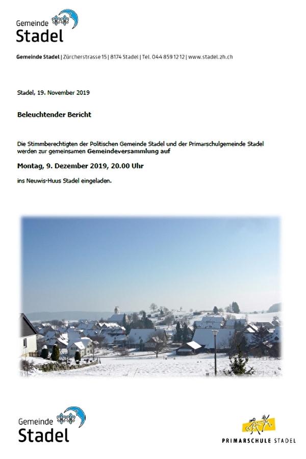 Titelblatt Beleuchtender Bericht
