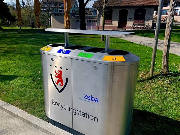neue Recyclingstation im Hirsgarten