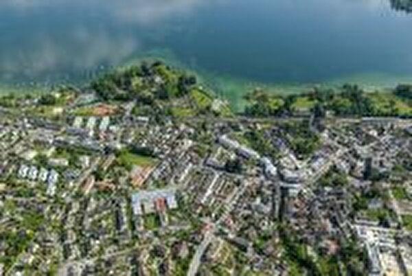 Luftaufnahme Dorfzentrum Cham