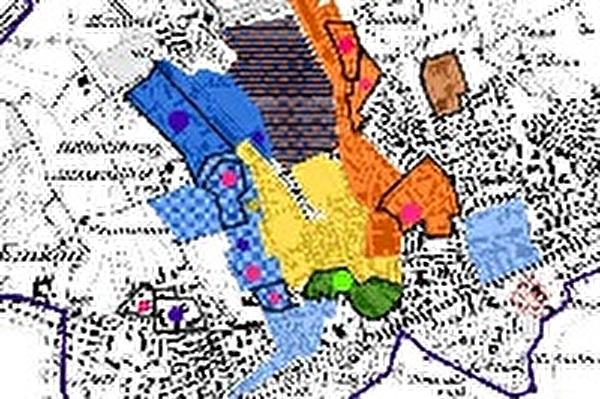 Ausschnitt aus der Plankarte des Energieplans 2012
