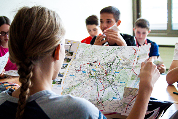 Plan des itinéraires cyclables