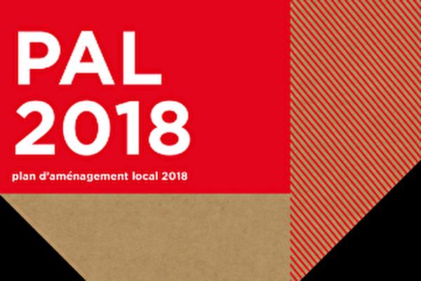 affiche du plan d'aménagement 2018
