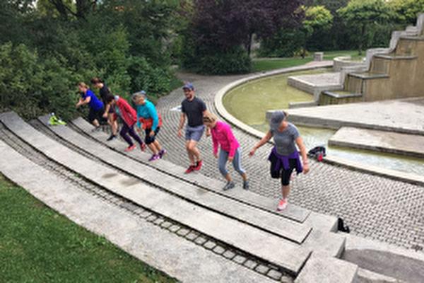 séance de sport dans un parc