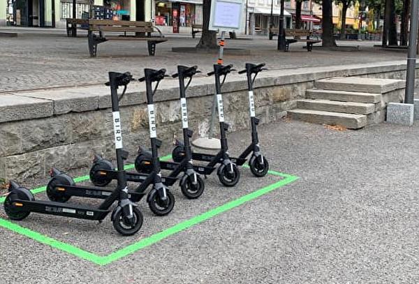 Trottinettes électriques en libre-service