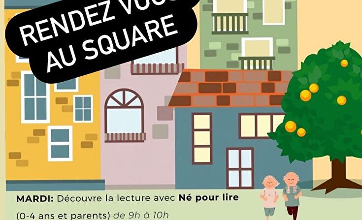 affiche rendez-vous au square du Verdel