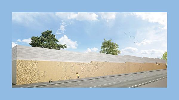 prévisualisation de la fresque de la piscine