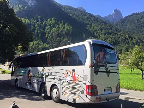 Reisecar der Firma Gast