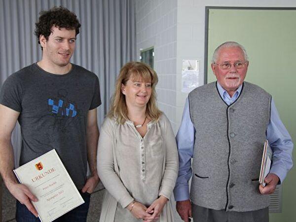v.l.n.r. Ruchti Peter, Doris Heinimann, Furrer Werner