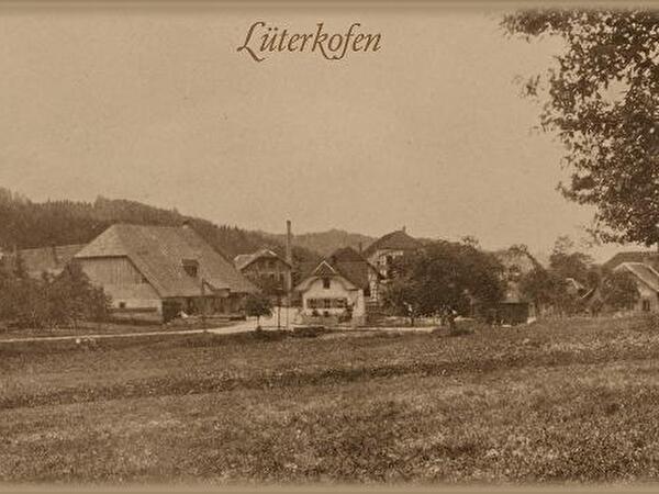 altes Bild mit Sicht auf Lüterkofen