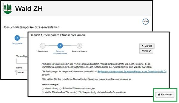 Online-Gesuch