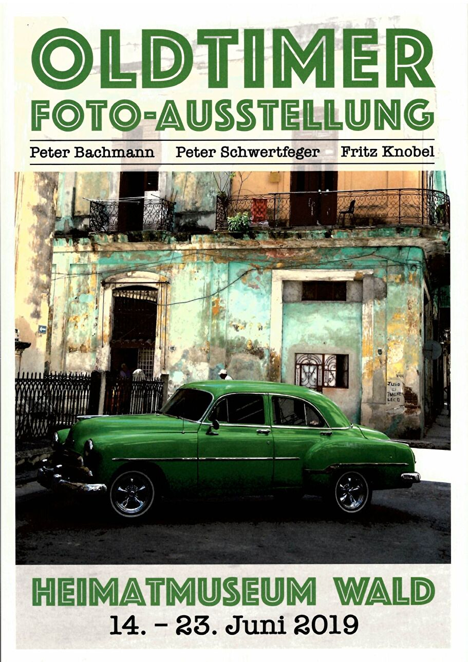 Einladungskarte Fotoausstellung «Oldtimer»
