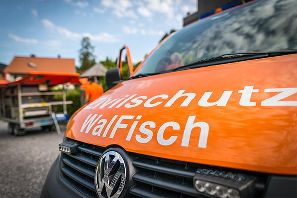 Fahrzeug der Zivilschutzorganisation WalFisch