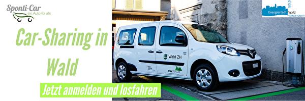 Ein Elektroauto steht der Bevölkerung für das Carsharing zur Verfügung