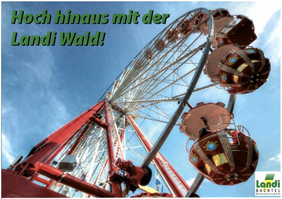 Ein Riesenrad an der Felsenau-Chilbi