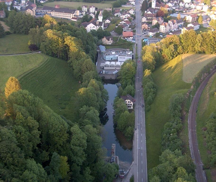 Luftaufnahme Klärwerk Wald