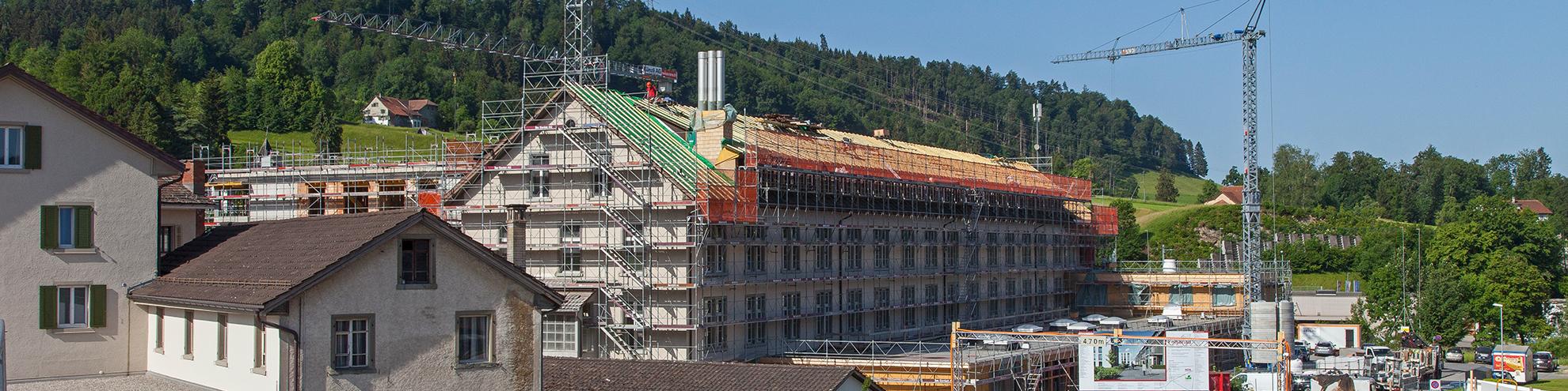 Baustelle in Wald ZH (Bild: Gemeinde Wald ZH)